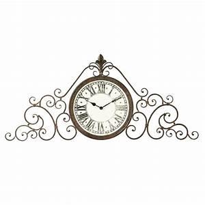 Horloge En Metal : horloge en m tal effet rouille audelia maisons du monde ~ Teatrodelosmanantiales.com Idées de Décoration