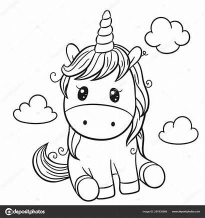 Unicorn Animados Coloring Cartoon Unicornio Colorir Desenhos