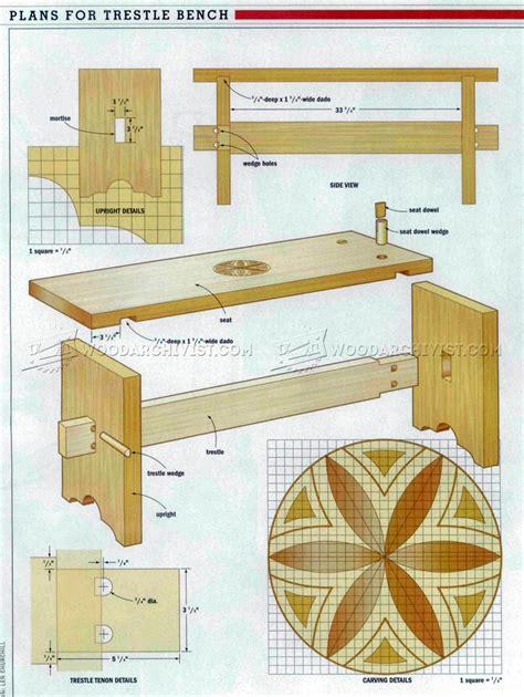 bench seat plans woodarchivist