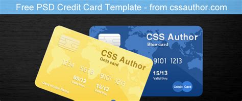 awesome credit card template psd