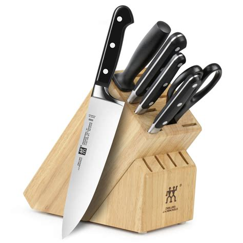set of kitchen knives zwilling j a henckels professional s knife block set 7 cutlery and more