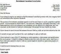 Cover Letter Template For Agency Recruitment Consultant Cover Letter Example