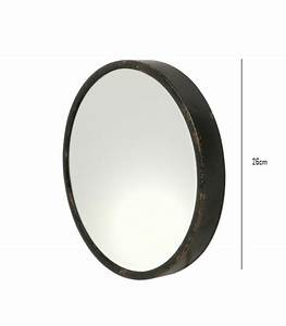 Miroir Metal Noir : miroirs muraux large choix ~ Teatrodelosmanantiales.com Idées de Décoration