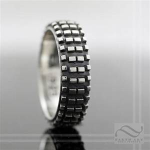 dirt bike tire tread ring sterling silver With off road wedding rings