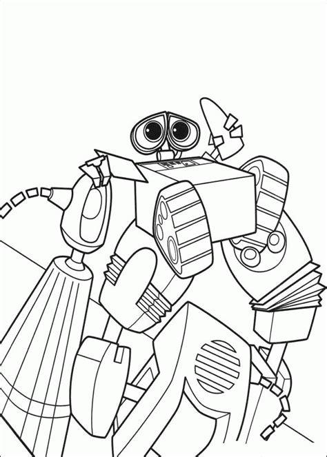 Coloring Wall by Wall E Coloring Pages Coloringpages1001