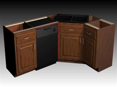 Kitchen Sink And Cabinet, Kitchen Corner Sink Cabinet