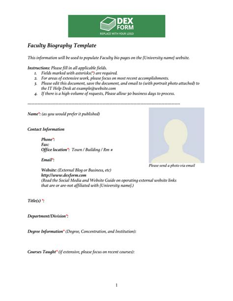 biography template   documents   word