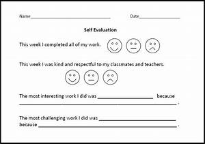 self evaluation form for lower elementary students With student self evaluation templates