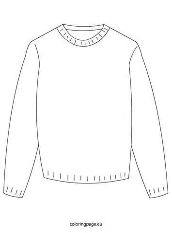 Sweater Coloring Sheet Coloring Pages  Christmas  Pinterest  Coloring Pages, Coloring Sheets