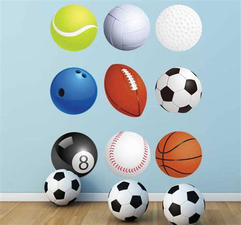 Sticker balles de sports divers - TenStickers
