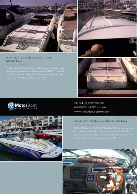 Motorboat And Yachting Boats For Sale by Motorboat Boat Broker Pdf Catalog Generated By Our