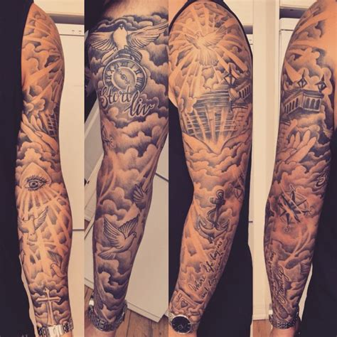 clouds foreman tattoo sleeves  guys images