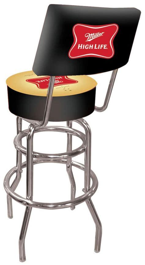 miller high classic logo bar stool w backrest
