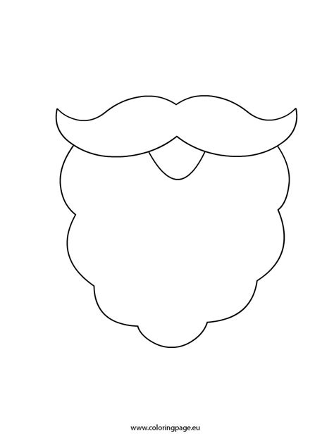 beard template santa beard free colouring pages