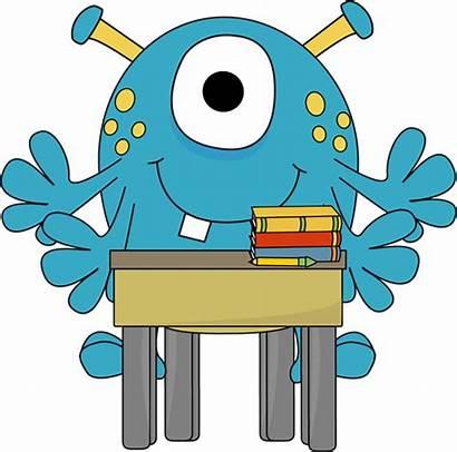 Desk Monster Clipart Clip Monsters Arm University