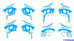 How to Draw a Sad Face, Sad Anime Face, Step by Step ...