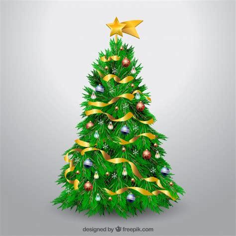 193 rbol de navidad decorado realista descargar vectores gratis
