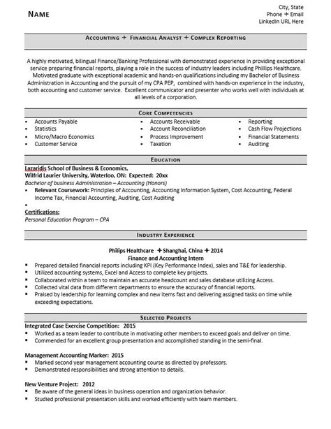 accountant resume exles entry level accountant resume