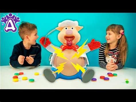 Don T Rock The Boat Game Youtube by видео для детей играем в игру поросенок поваренок Pop The