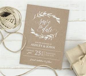 kraft save the date template instant download editable With electronic save the date templates