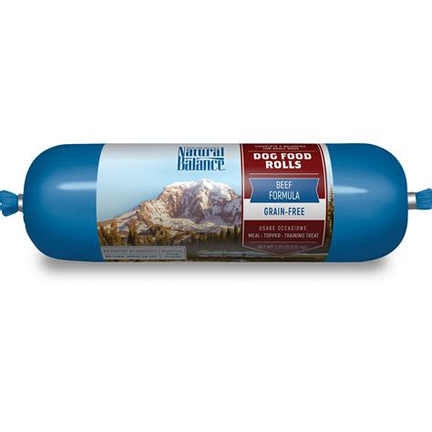 natural balance beef formula dog food rolls  lbs