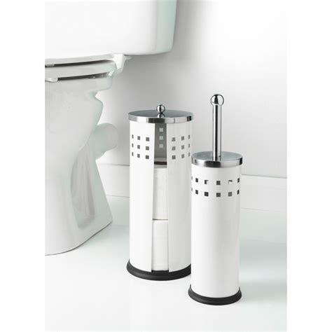 B&M Toilet Brush & Roll Holder Set 2pc   324322   B&M