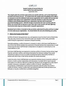 Conflict Of Interest Policy Template Professional Templates For You ...