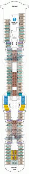 Deck 10 Plan Anthem Of The Seas by Anthem Of The Seas Deck 12 Plan Cruisemapper