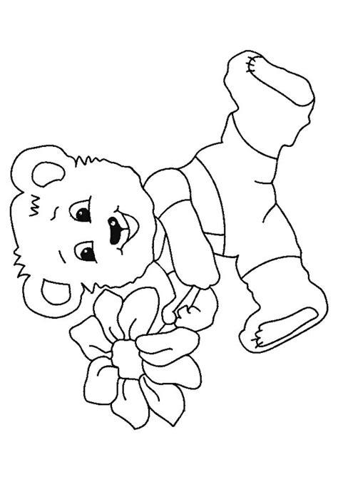 Kleurplaat Teddybeer by Kleurplaat Teddyberen 8008 Kleurplaten