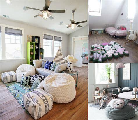 pouf chambre pouf géant tricot et marocain éléments déco salon ou