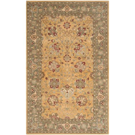 5 8 Area Rugs by Safavieh Antiquity Gold 5 Ft X 8 Ft Area Rug At21c 5