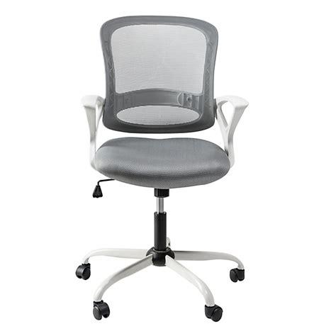 alinea fauteuil bureau fauteuil de bureau 224 roulettes blanc et gris archic