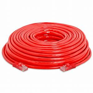 Red Cat 5e Rj45 Cca Ethernet Lan Network Cable Cord