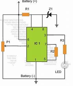 Ic 555 Low Battery Indicator Circuit