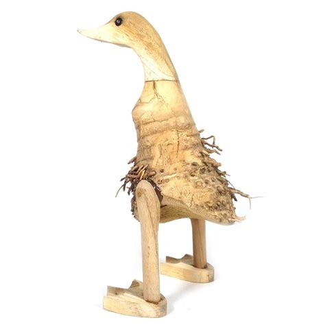 jual patung kerajinan bebek akar bambu berbulu 25x9x9 cm di lapak modemku sarana