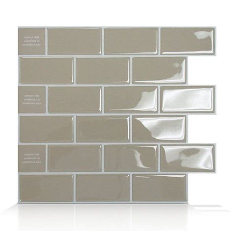 shop smart tiles sm subway  adhesive wall tile