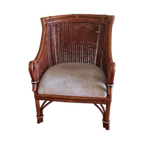 wicker club chair vintage asian rattan wicker club chair chairish