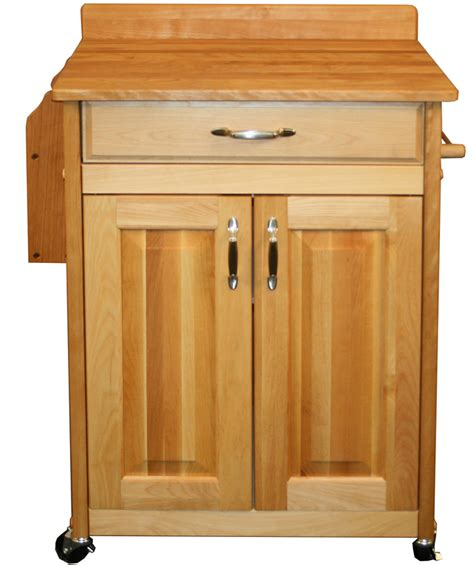Butcher Block Table  Hardwood Birch In Kitchen Island Carts