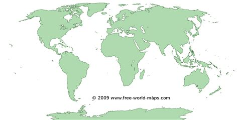 printable green transparent blank outline world map