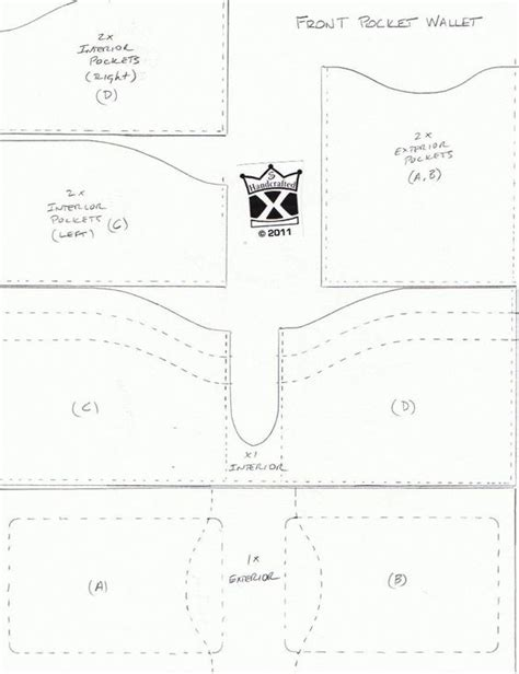 wallet template bifold wallet template wallet template patterns and templates leatherworker net