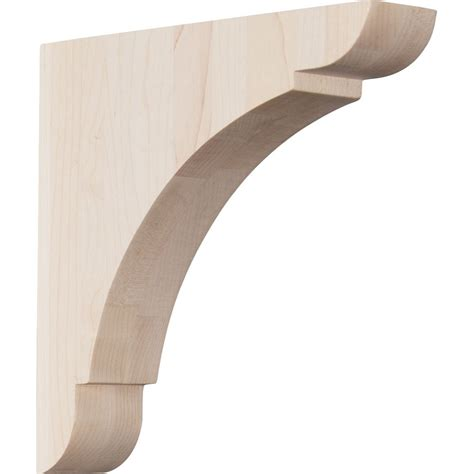 Corbels At Lowes ekena millwork 1 75 in x 8 in rubberwood corbel at lowes