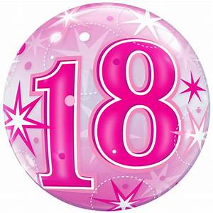 22-18th-birthday-pink-sparkly-bubble-balloon-11169-p png