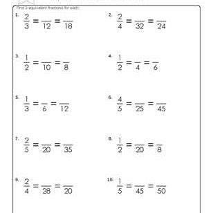 grade math fraction worksheets  answers