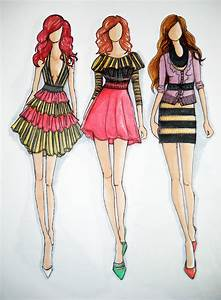 Glamorous Fashion Sketches and Illustrations: Best 50 ...