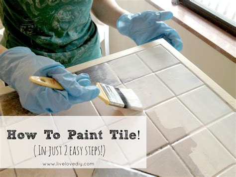 can you paint kitchen tiles livelovediy how to paint tile countertops 9368