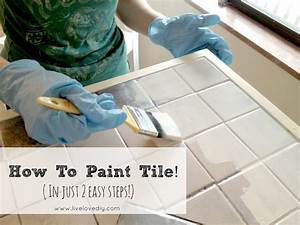 Livelovediy how to paint tile countertops for How to paint ceramic tile in bathroom