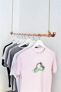 Garderobe Aus Rohren : diy kleiderstange aus kupferrohr selber bauen scandi designs de diy kleiderstange ~ Watch28wear.com Haus und Dekorationen
