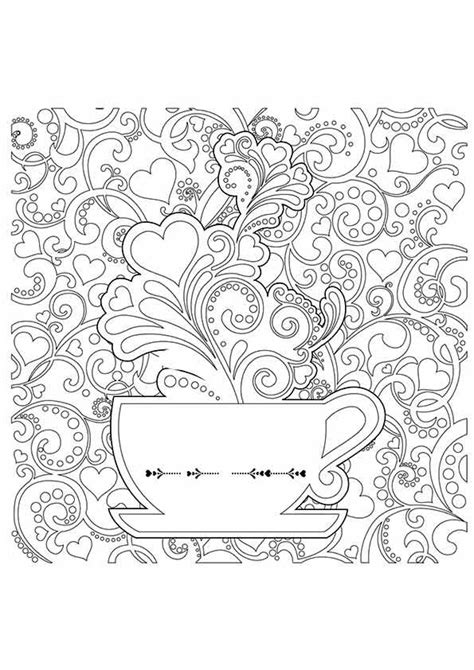 Colouring reduces stress and helps aid relaxation. 10 Coffee Coloring Pages For Your Little Coffee Lover | Detailed coloring pages, Coloring pages ...