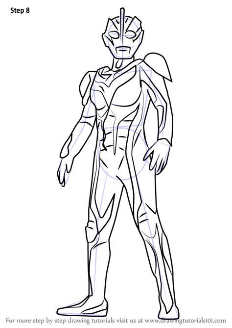 learn   draw dark zagi ultraman step  step drawing tutorials