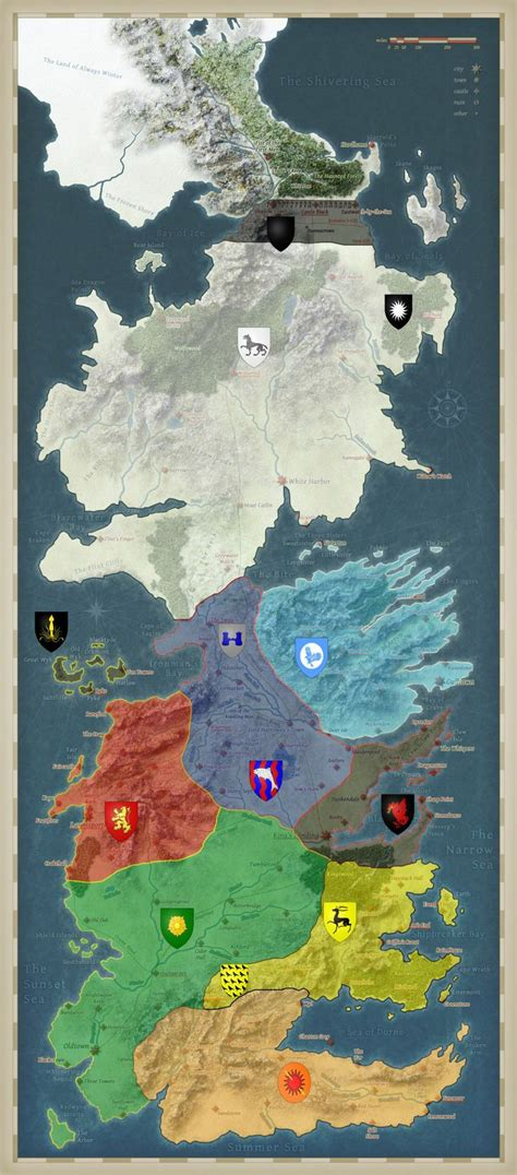 westeros map game  thrones pinterest